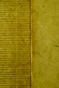 Sheets of Laid and Wove paper side by side